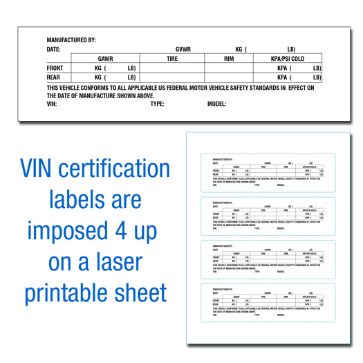 VIN Certification Labels • Buy Manufacturer Certificate of Origin\'s