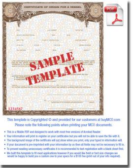 MCO PDF Templates