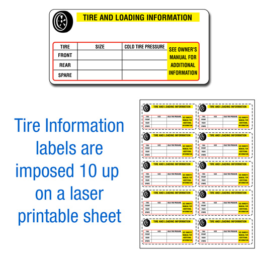 tire information labels  u2022 buy manufacturer certificate of